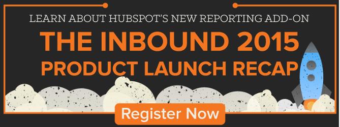 live webinar: INBOUND 2015 HubSpot product launches