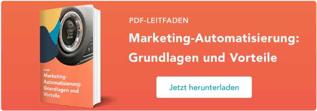 Roboter hält Marketing-Instrumente