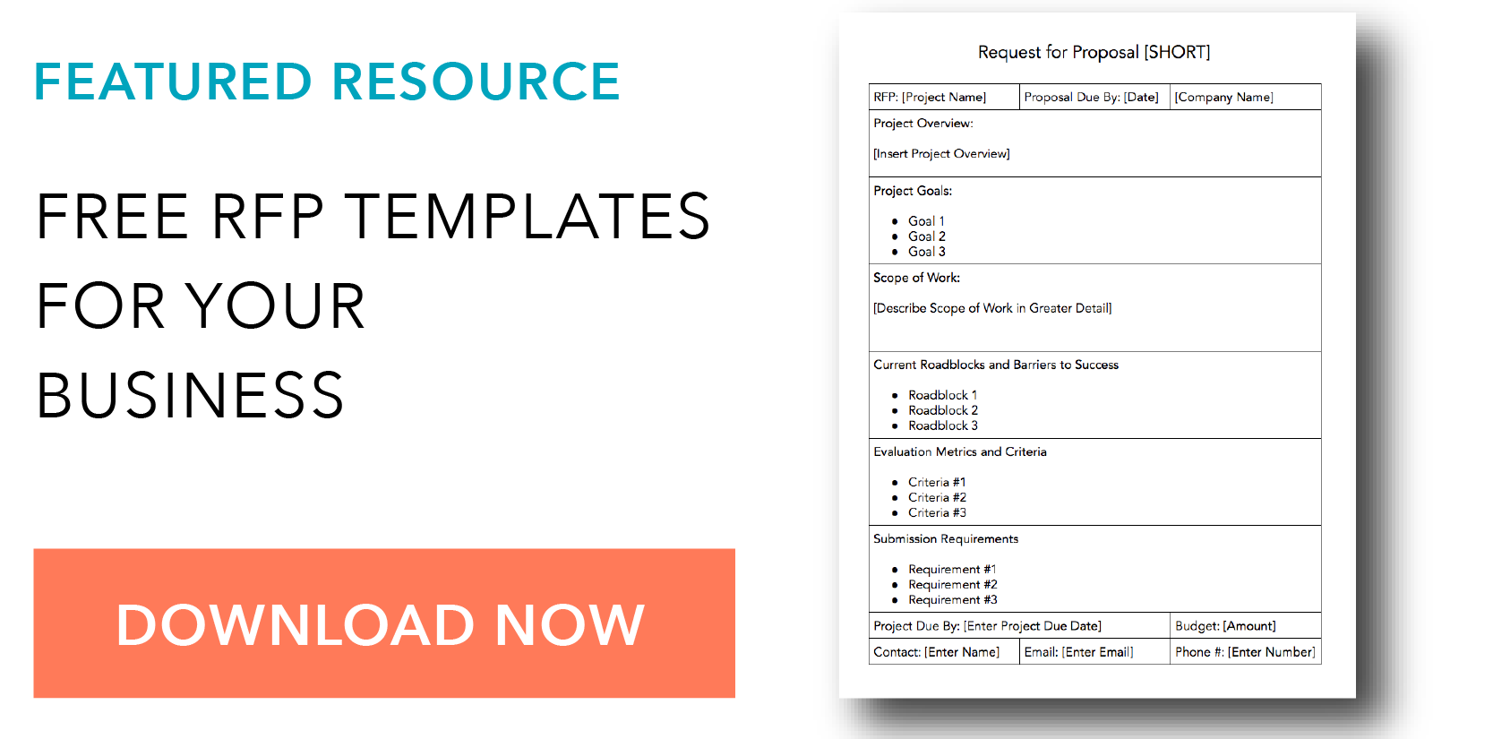 rfp templates for free
