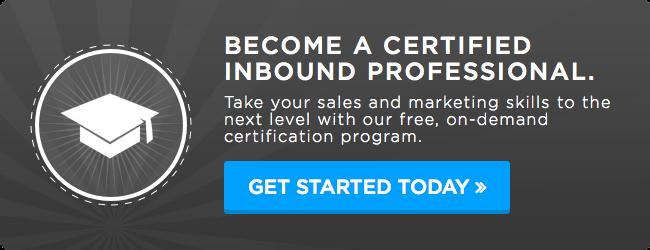 inbound marketing certification
