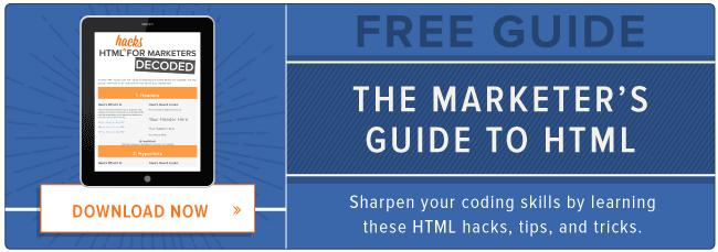 free HTML hacks guide