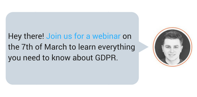 Register for our webinar on March 7th and learn how to get started on your  GDPR compliance journey.