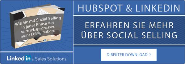 LinkedIn und HubSpot Ebook zum Thema Social Selling