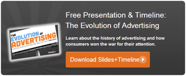 evolution of advertising presentation
