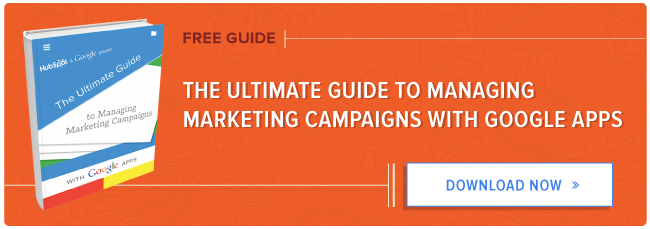 how to manage marketing campaigns with google apps