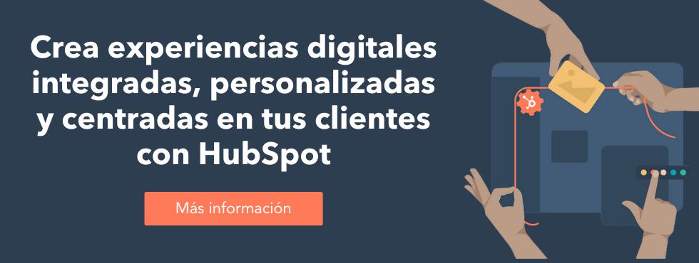 Experiencias digitales con HubSpot