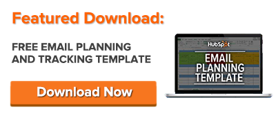 Free Download Email Planning Template