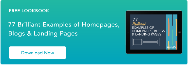 Examples of brilliant homepage, blog and landing page design