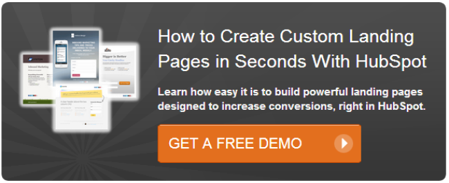 hubspot landing pages demo