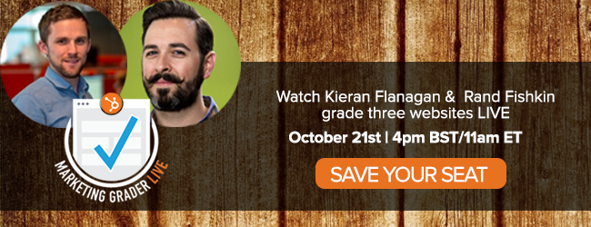 save your seat for Marketing Grader Live