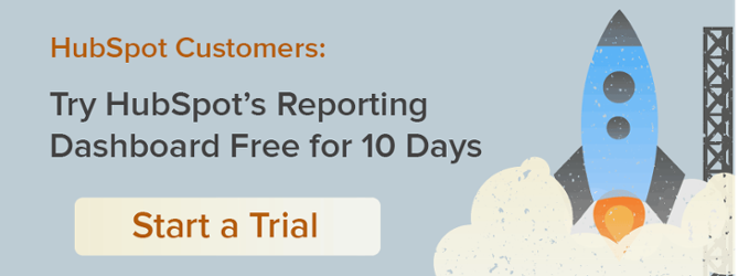 free trial of HubSpot's reporting dashboard