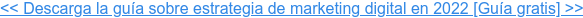 << Descarga la guía sobre estrategia de marketing digital en 2022 [Guía gratis]  >>
