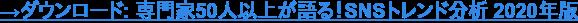 →ダウンロード: ソーシャル メディア トレンド分析 2020年版