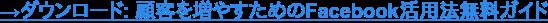→ダウンロード: 顧客を増やすためのFacebook活用法無料ガイド