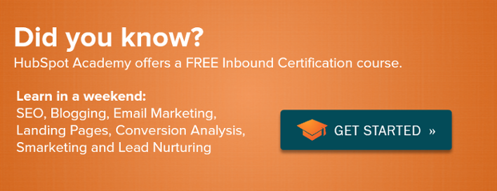 Get your free Inbound Certification today