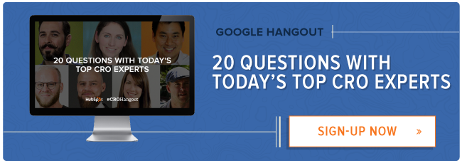 join a Google Hangout With CRO experts