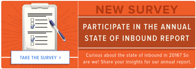 take the 2016 state of inbound survey