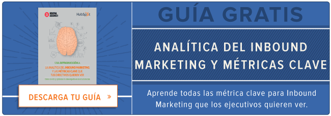 Analiticas del Inbound Marketing y metricas clave