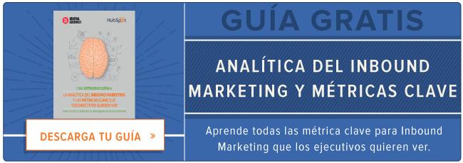 Analiticas del Inbound Marketing y metricas clave