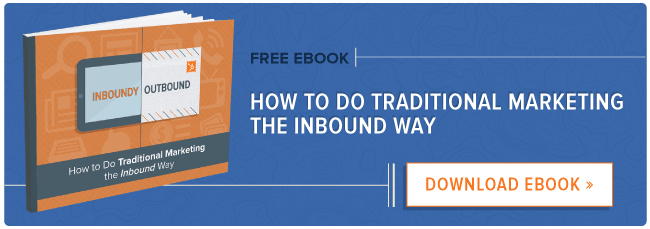 traditional marketing the inbound way