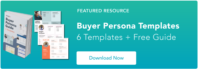 free buyer persona creation template