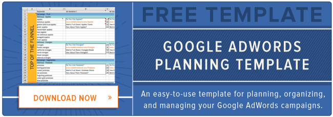 free Google AdWords template