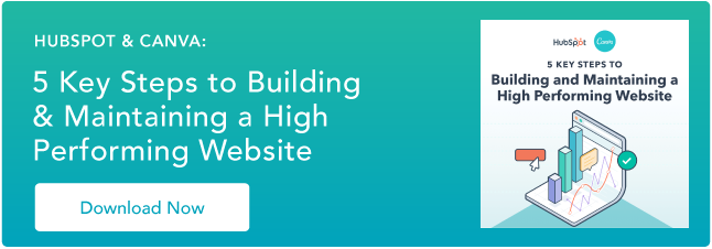 Canva HubSpot Website Ebook