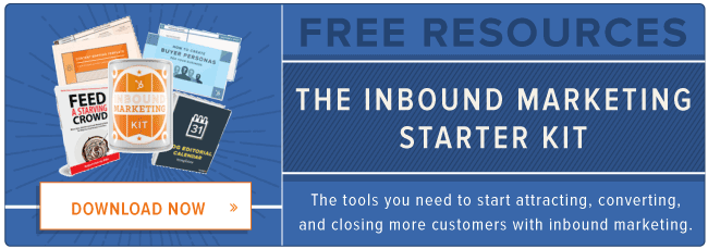 free inbound marketing starter kit