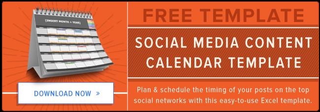 Free Template Social Media Content Calendar