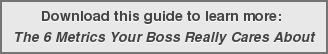 Download this guide to learn more:  The 6 Metrics Your Boss Really Cares About