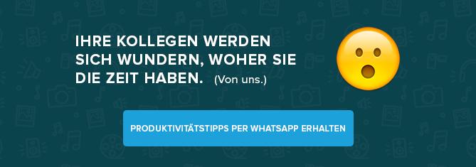 Täglichen Tipp per WhatsApp erhalten