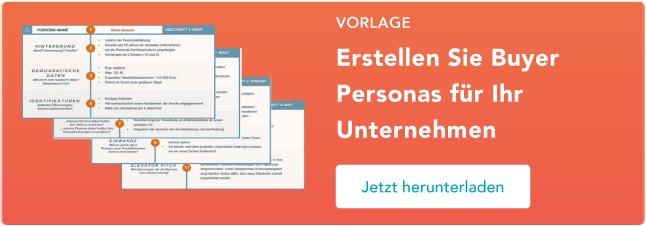 Buyer Persona Vorlagen