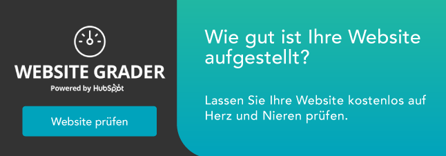 Der Marketing Grader. Jetzt Website testen.