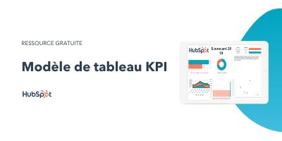 Slide-in-CTA : Modèle de tableau KPI