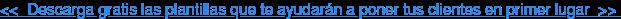 <<Descarga gratis las plantillas que te ayudarán a poner tus clientes en  primer lugar>>