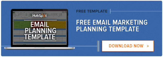 free email marketing planning template