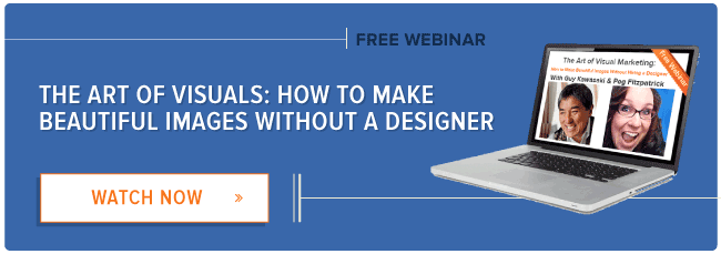register for hubspot's visual marketing webinar