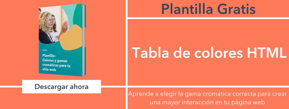 Tabla de colores HTML