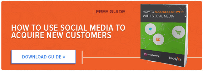 free guide: acquire customers with social media