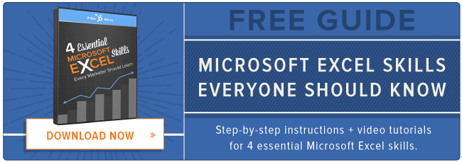 excel spreadsheet microsoft skills