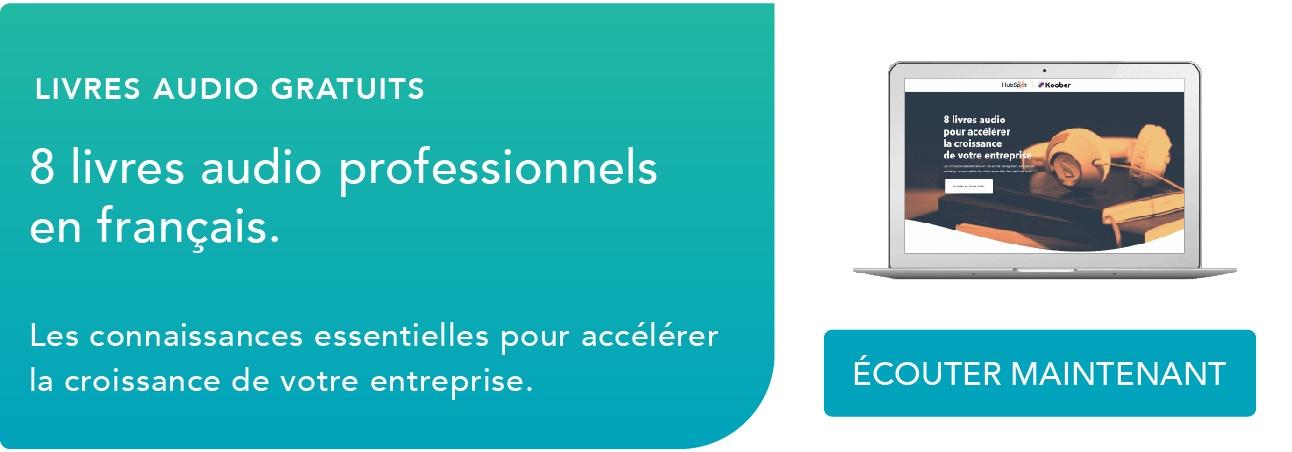 8 livres audio professionnels en français