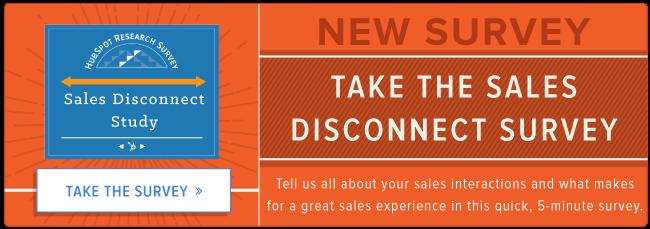 take the sales disconnect survey