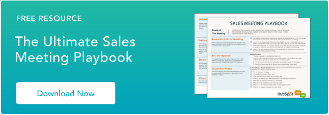 Sales meeting playbook