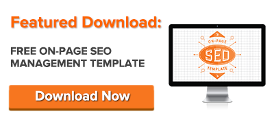 free on-page seo template