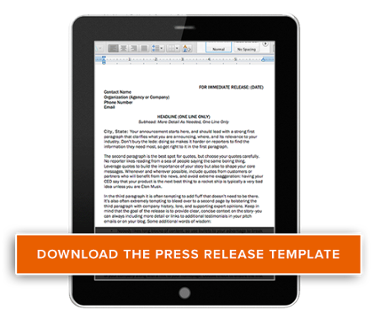 The ultimate collection of free content marketing templates for Free press release template