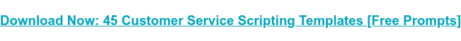 → Download Now: 45 Customer Service Scripting Templates