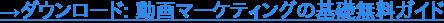 →ダウンロード: 動画マーケティングの基礎無料ガイド