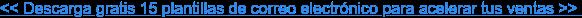 << Descarga gratis 15 plantillas de correo electrónico para acelerar tus ventas  >>