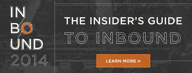 insider's guide to INBOUND 2014
