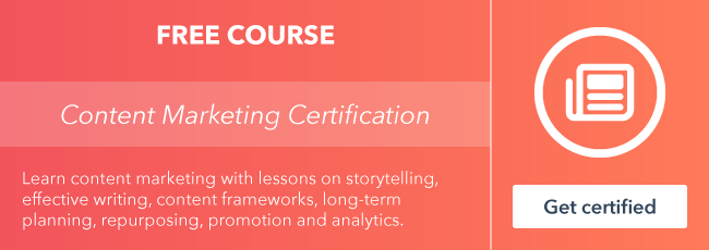 Pre-register for HubSpot Academy's all-new Content Marketing Certification Course